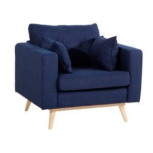 Ciemnoniebieski fotel Max Winzer Tomme