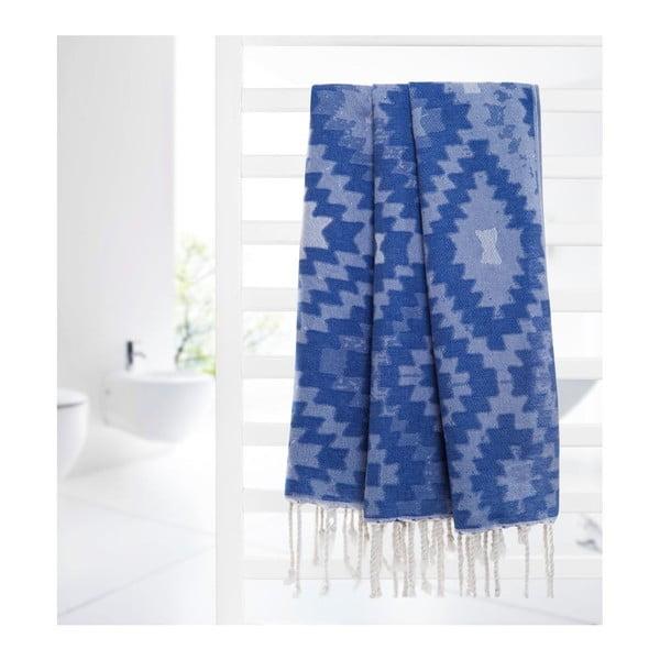 Ręcznik hammam Vive Blue, 95x180 cm