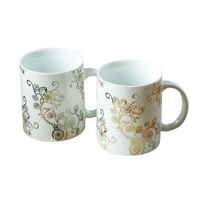 Zestaw 2 porcelanowych kubków z dekorem metalu Premier Housewares