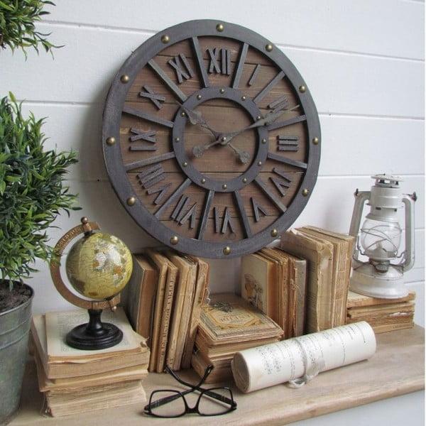 Zegar naścienny Industrial Wood, 46 cm