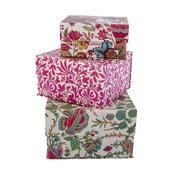Zestaw 3 pudełek Pattern