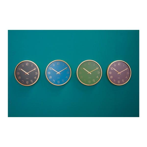 Zielony zegar ścienny Karlsson Elegance