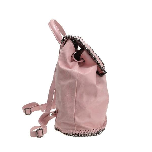 Skórzany plecak Situla, pudrowy