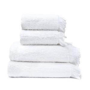 Zestaw 2 białych ręczników bawełnianych i 2 ręczników kąpielowych Casa Di Bassi Bath