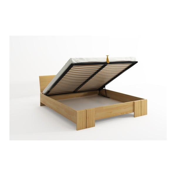 Łóżko dwuosobowe z drewna sosnowego ze schowkiem SKANDICA Vestre Maxi, 140x200 cm