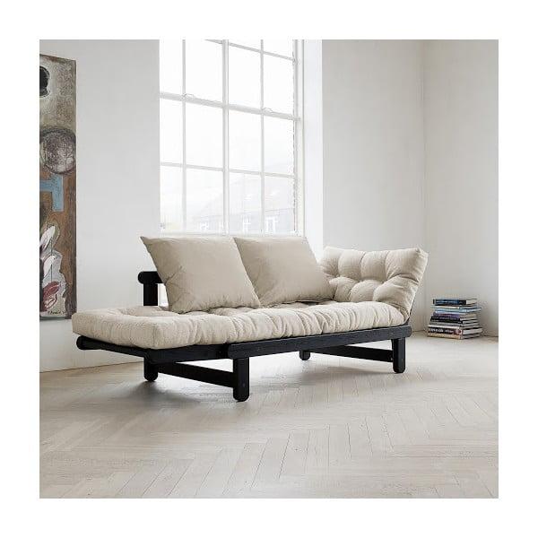 Sofa rozkładana Karup Beat Black/Natural