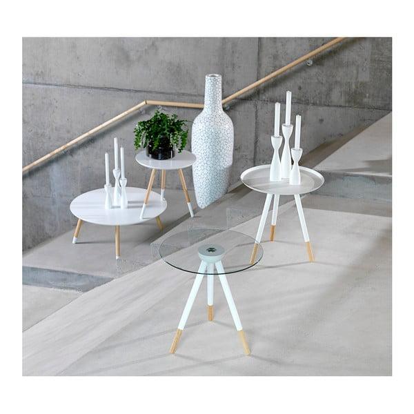 Biały stolik Canett Misty Glass