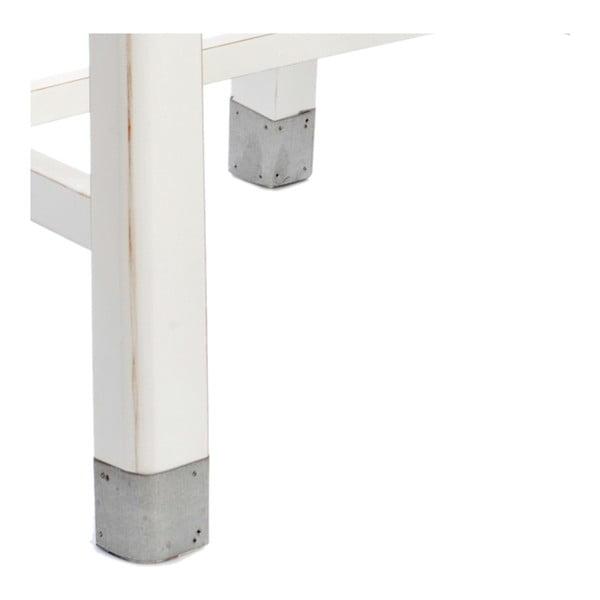 Krzesło do jadalni White Wood z cynkowymi detalami