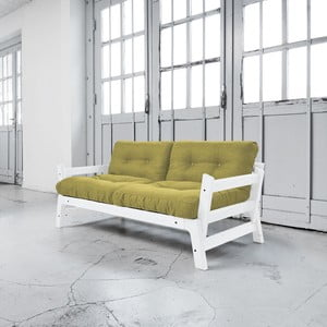 Sofa rozkładana Karup Step White/Avocado Green