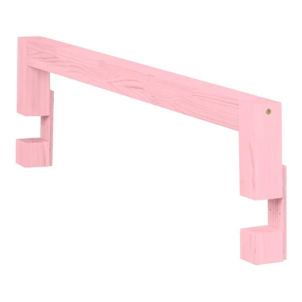 Różowe boki do łóżka z drewna świerkowego do łóżka Benlemi Safety,dł.90cm