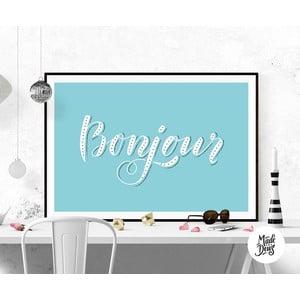 Plakat Bonjour, A3
