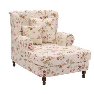 Biały fotel w kwiaty Max Winzer Mareille