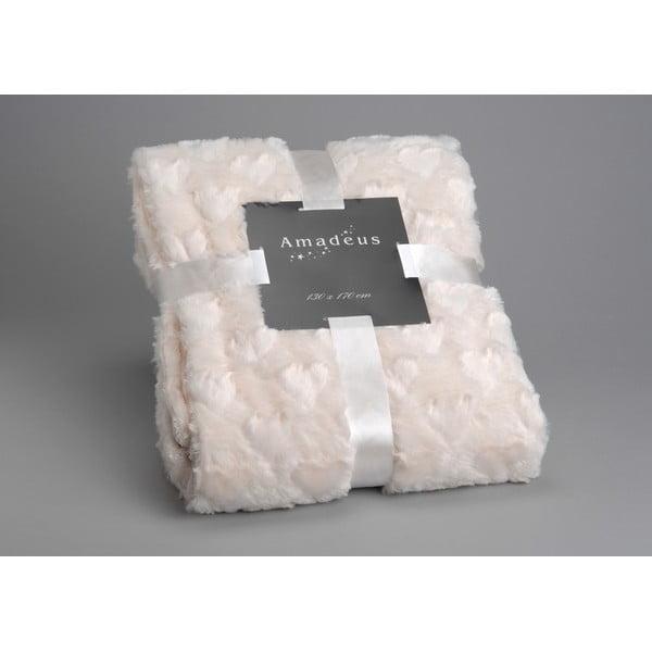 Koc Cream Amour, 170x130 cm
