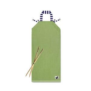 Zielony leżak plażowy Origama Blue Stripes
