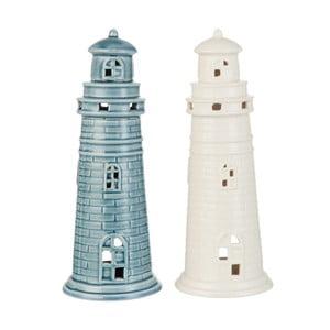 Zestaw 2 świeczników J-Line Lighthouse