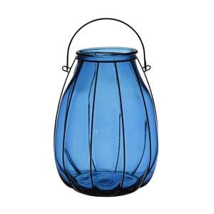Lampion Ecoglass Blue, 22x22x32 cm