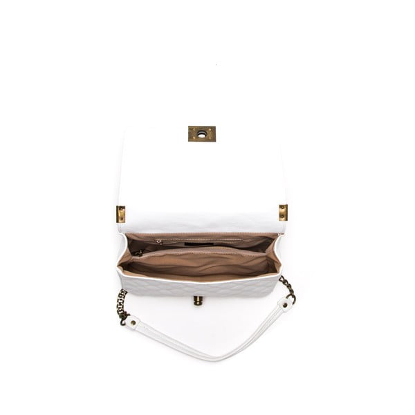 Skórzana torebka Anna Luchini 2064 Bianco