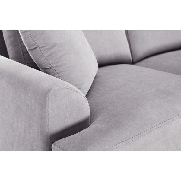 Sofa narożna Jalouse Maison Irina, prawy róg, jasnoszara