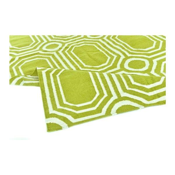 Dywan wełniany Geometry Abstract Pea Green, 160x230 cm