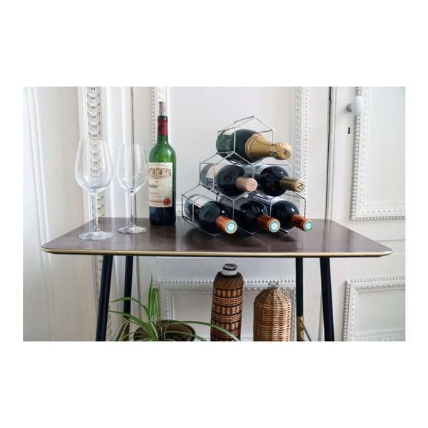 Stojak na butelki wina w kolorze metalu Compactor