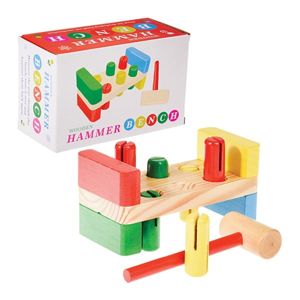 Zabawka drewniana z młotkiem Rex London Hammer Bench