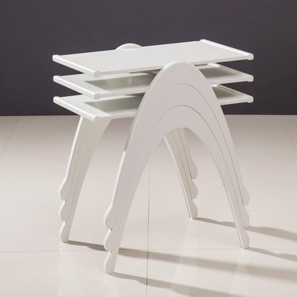 Zestaw 3 stolików Vega Nesting White
