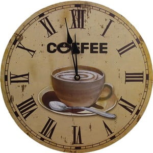 Zegar Coffee Time, 34 cm