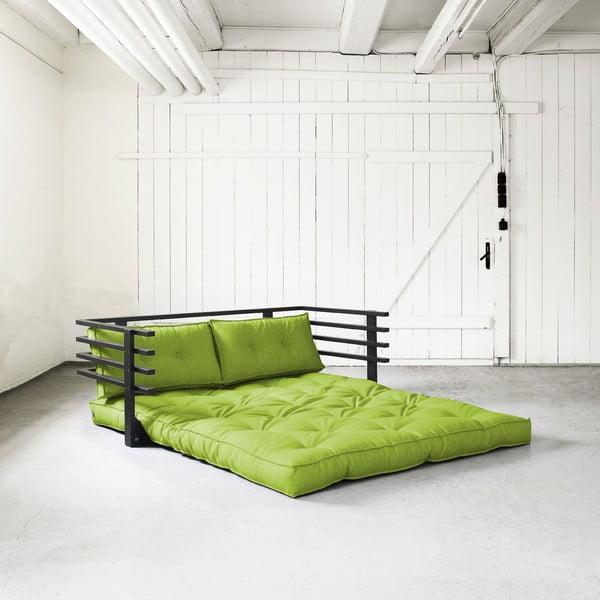 Rozkładana sofa dwuosobowa Karup Funk Black/Lime