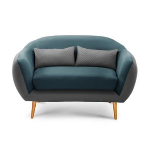 Sofa dwuosobowa Meteore Grey/Turquoise