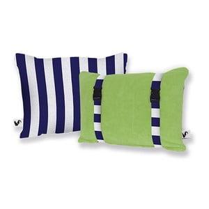 Plażowa poduszka Origama Olive Stripes