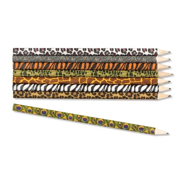 Zestaw ołówków z motywem afrykańskich zwierząt npw™ Safari
