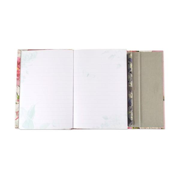 Kieszonkowy notatnik w linie A6 z ołówkiem Botanique by Portico Designs, 128 str.