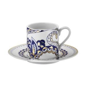 Zestaw 6 filiżanek porcelanowych ze spodkami Kutahya Castles, 50 ml