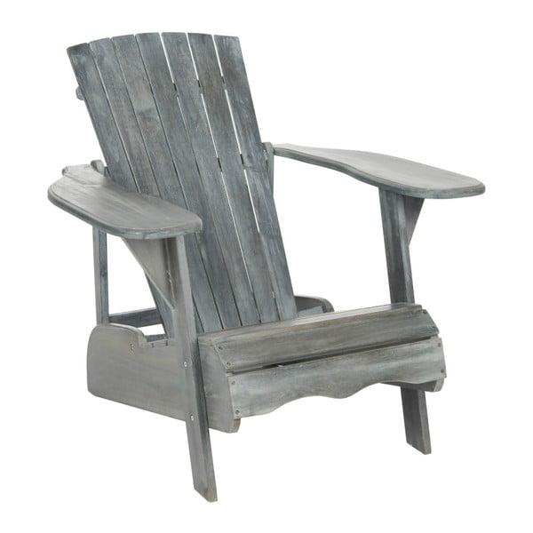 Szary fotel ogrodowy Safavieh Mopani Grey