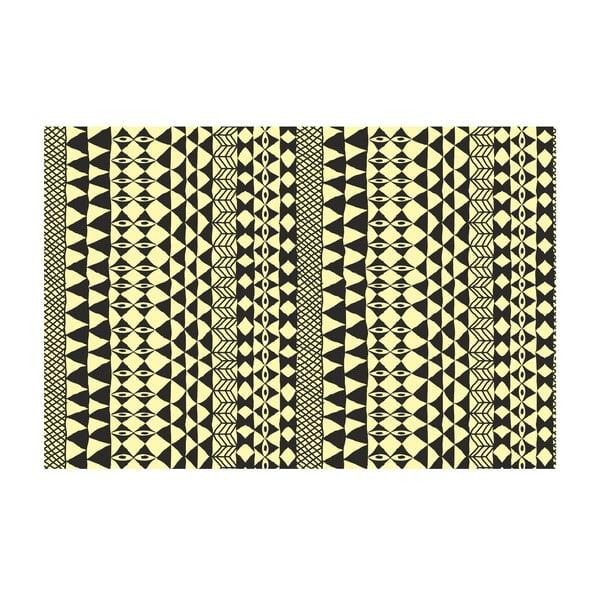 Winylowy dywan Étnico Crema Negro, 100x150 cm