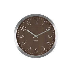 Brązowy zegar Present Time Wood Charm