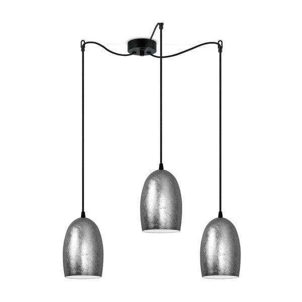 Podwójna lampa sufitowa w srebrnym kolorze Sotto Luce UME Elementary