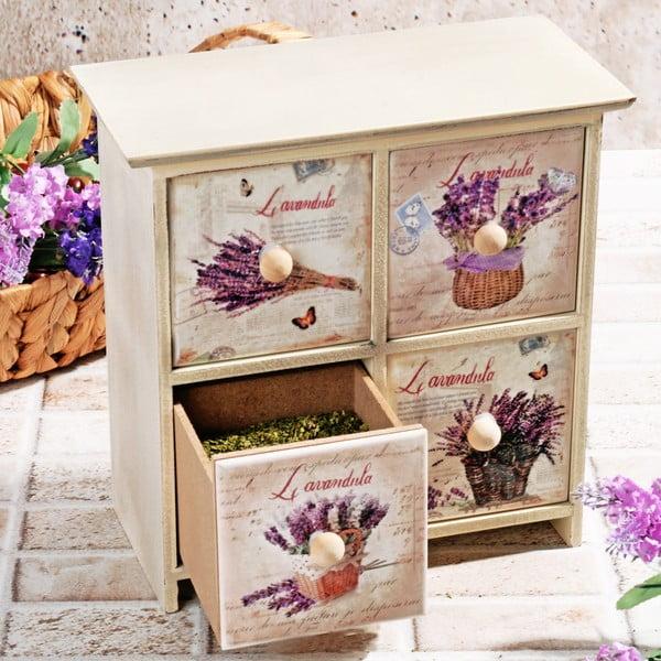 Drewniane pudełko na przyprawy Four