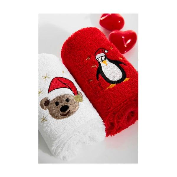 Zestaw 2 ręczników Bears Penguen, 30x50 cm
