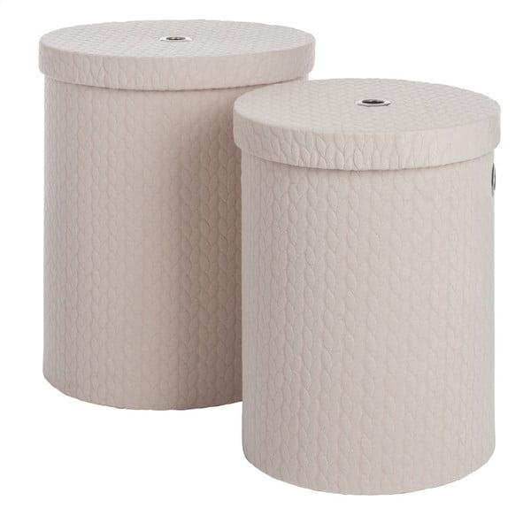 Zestaw 2 pudełek Cream Linen