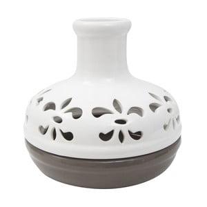 Biało-brązowy wazon Mauro Ferretti Bottle