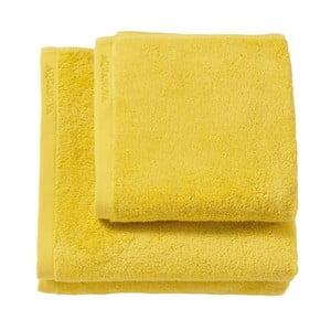 Żółty ręcznik kąpielowy Aquanova London, 70x130 cm