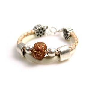 Bransoletka Ring Stone, brązowa