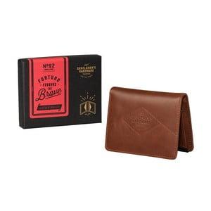 Brązowy skórzany portfel Gentlemen's Hardware