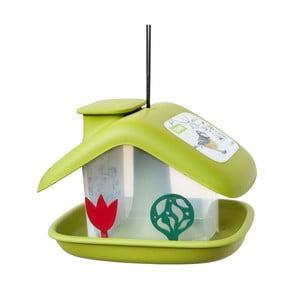 Zielony karmnik dla ptaków Plastia Domek