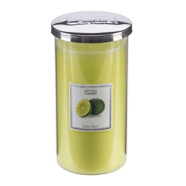 Świeczka zapachowa o zapachu limonki Copenhagen Candles Lime Zest Talll, czas palenia 70 godz.