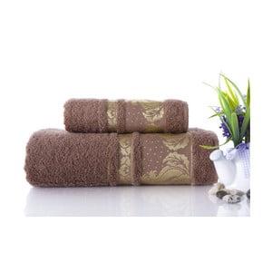 Zestaw 2 ręczników Antik Gold Light Brown, 70x140 i 50x90 cm