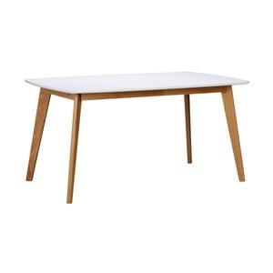 Biały stół z nogami w naturalnym kolorze Folke Griffin, dł. 150 cm