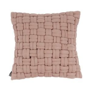 Różowa poduszka ZicZac Clusp, 45x45 cm