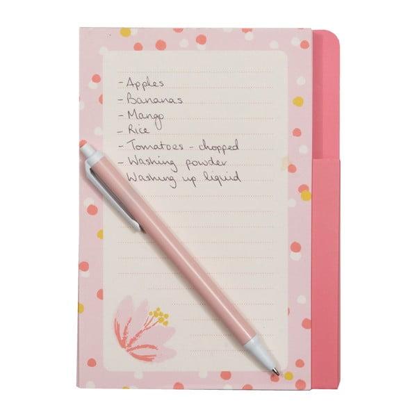Notes   magnetyczny z długopisem Pinky